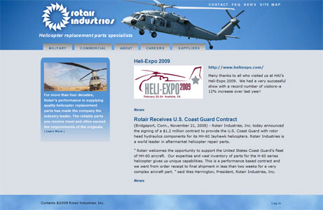 Rotair Industries web site